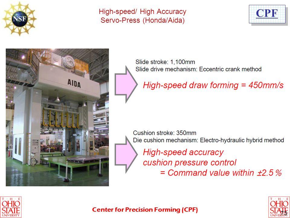 High-speed/ High Accuracy Servo-Press (Honda/Aida)