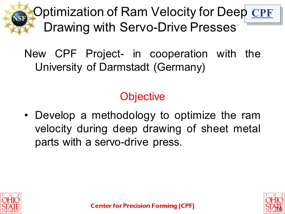 Optimization of Ram Velocity for Deep Drawing with Servo-Drive Presses