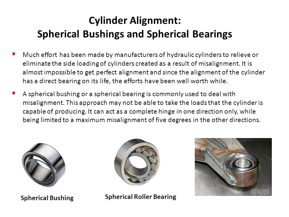 Cylinder Alignment: Spherical Bushings and Spherical Bearings
