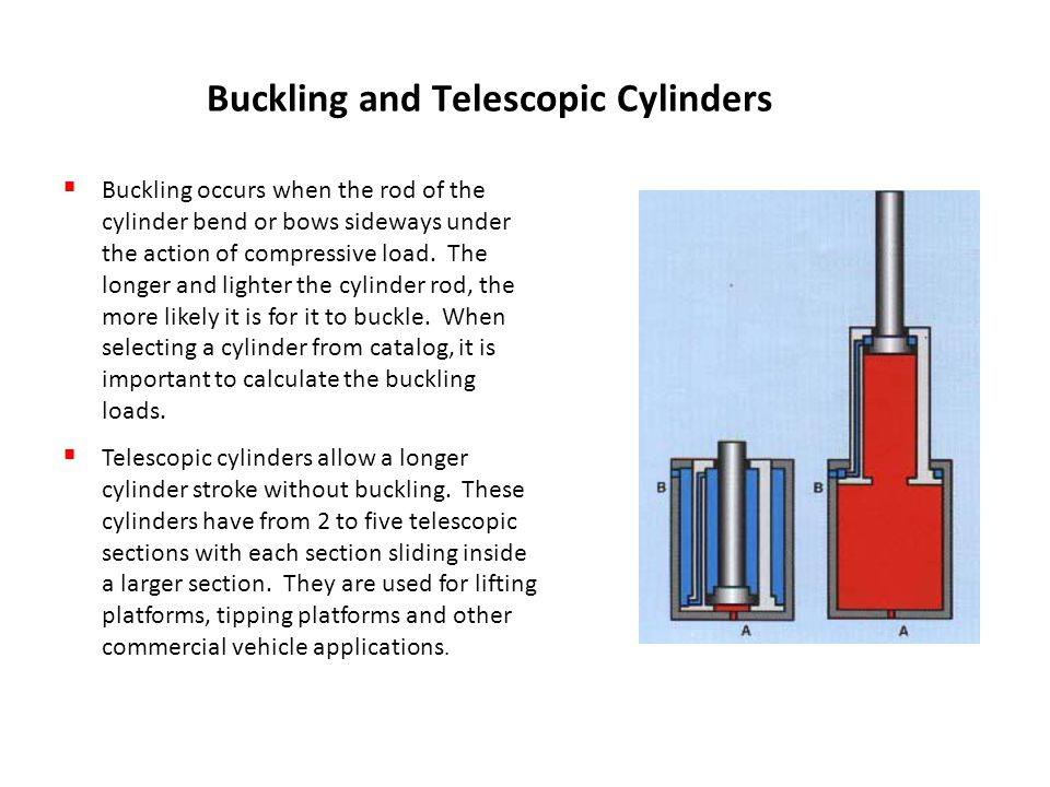 Buckling and Telescopic Cylinders