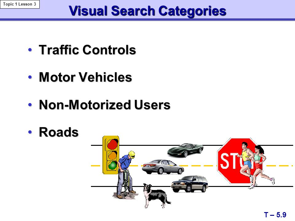 Visual Search Categories