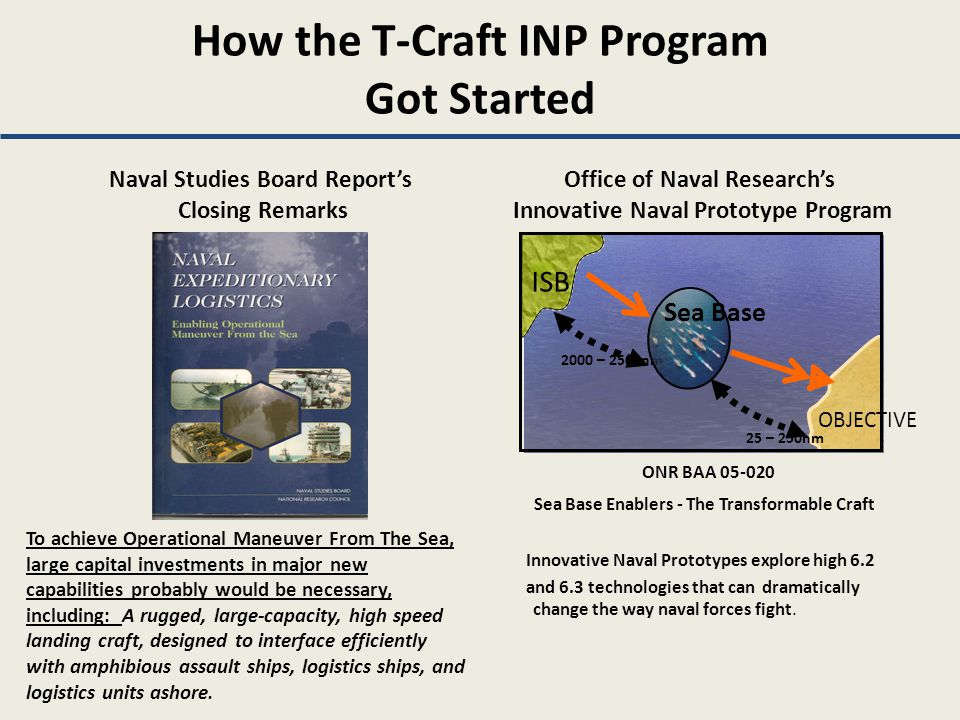How the T-Craft INP Program Got Started