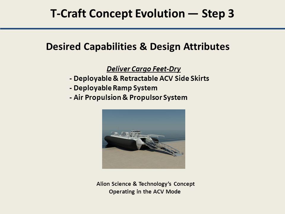 T-Craft Concept Evolution — Step 3