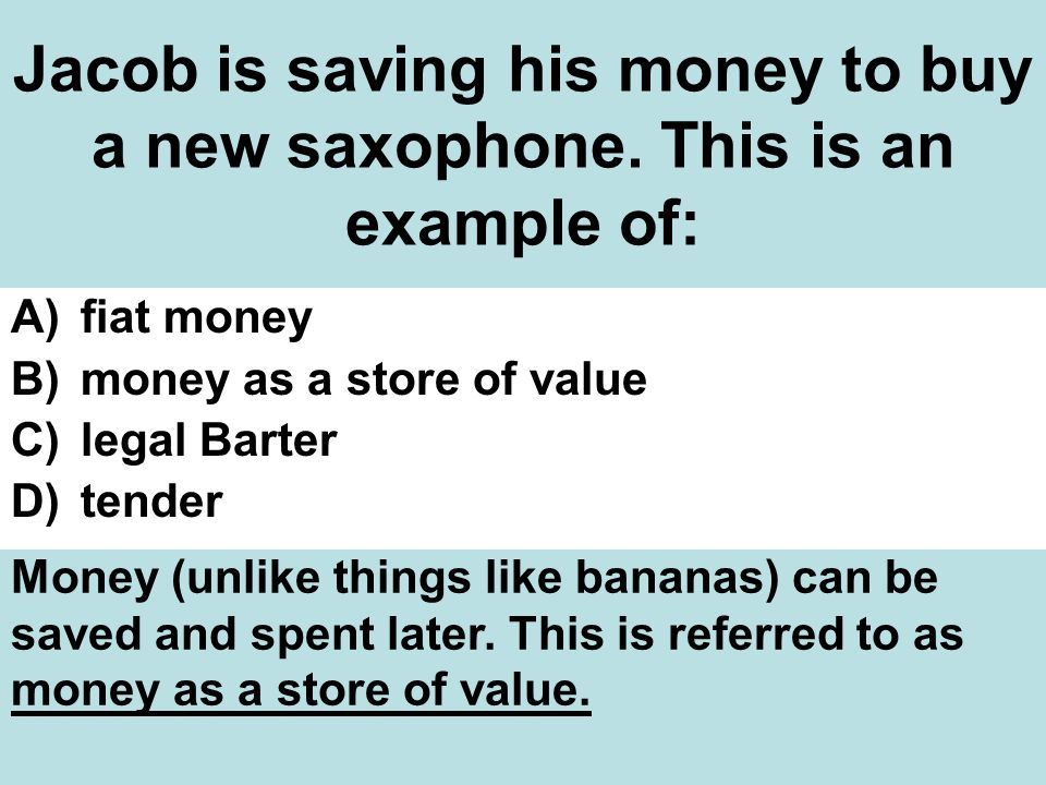 Jacob is saving his money to buy a new saxophone