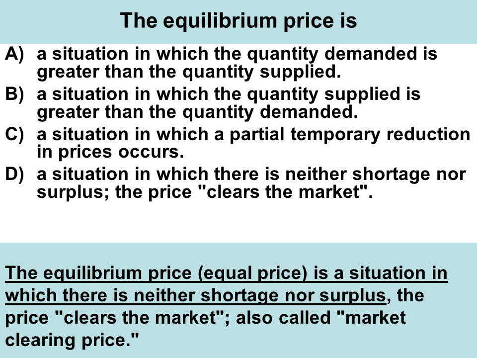 The equilibrium price is
