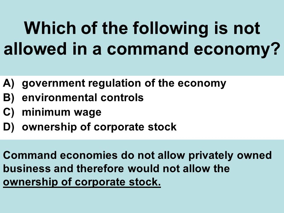 Which of the following is not allowed in a command economy