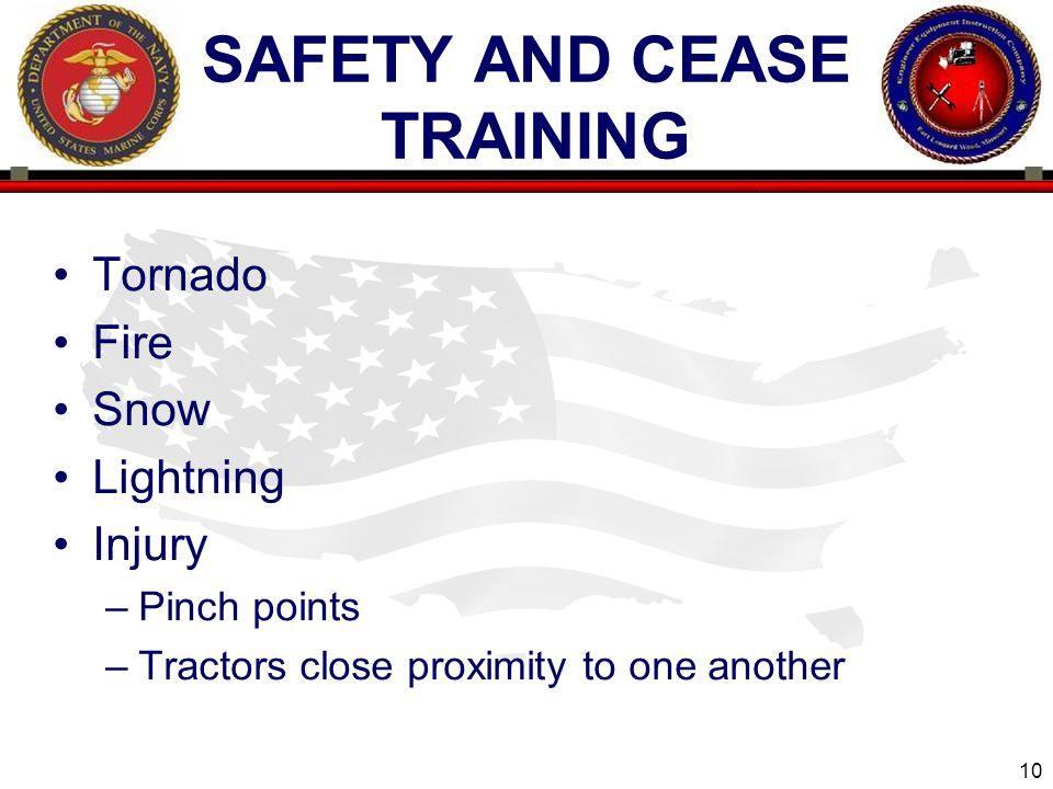Safety and cease training