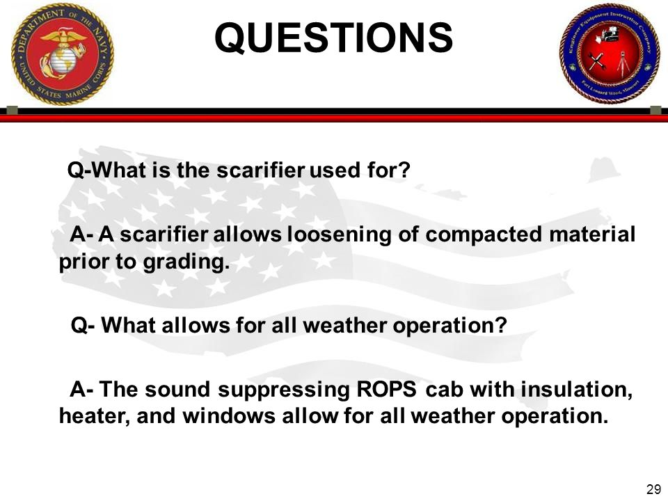 QUESTIONS Q-What is the scarifier used for