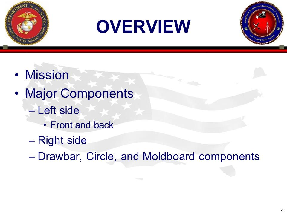 overview Mission Major Components Left side Right side
