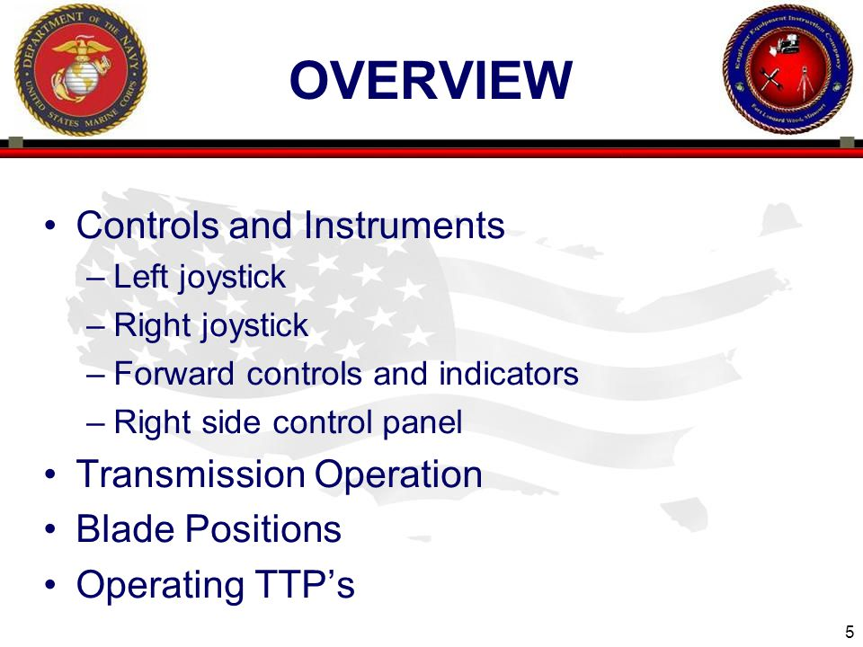 overview Controls and Instruments Transmission Operation
