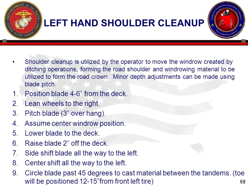 left hand shoulder cleanup
