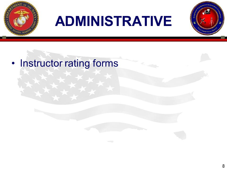 administrative Instructor rating forms