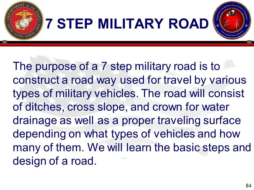 7 step military road