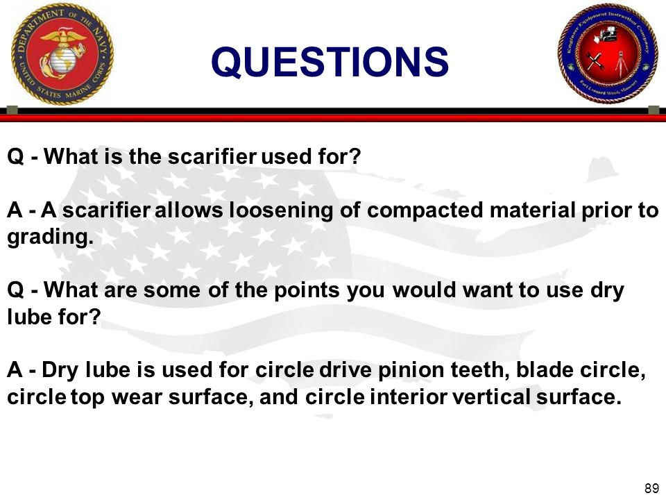 QUESTIONS Q - What is the scarifier used for