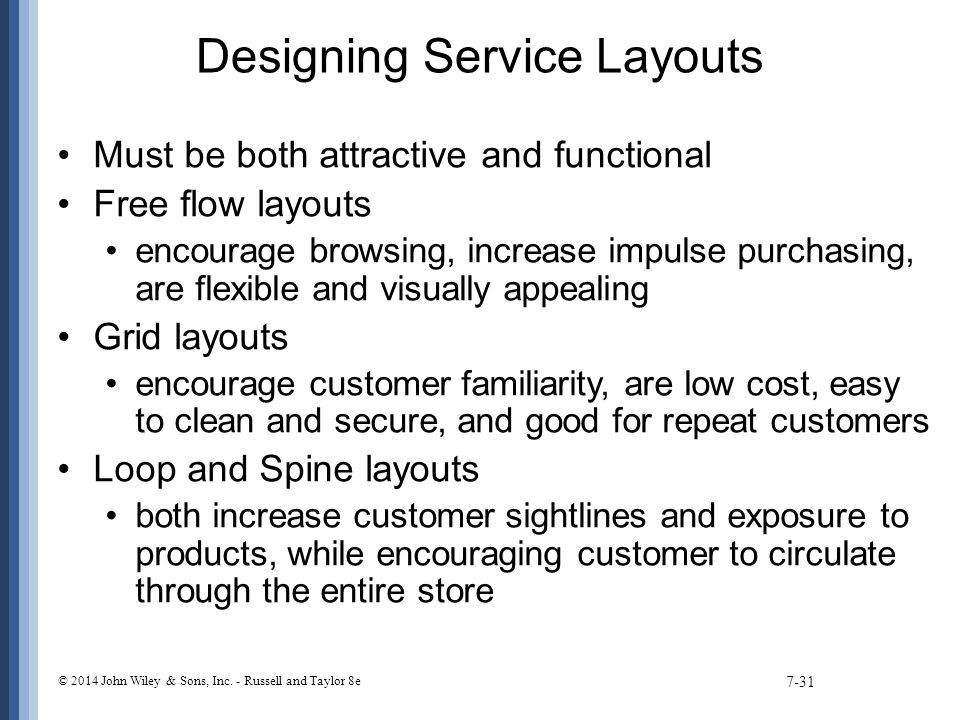 Designing Service Layouts