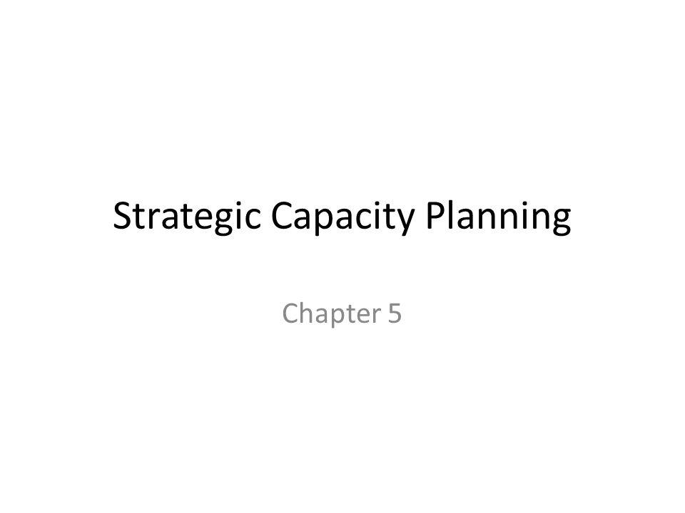 Strategic Capacity Planning