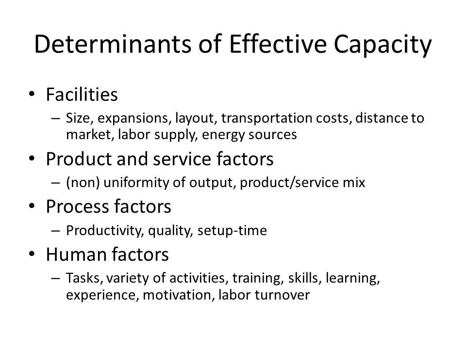Determinants of Effective Capacity