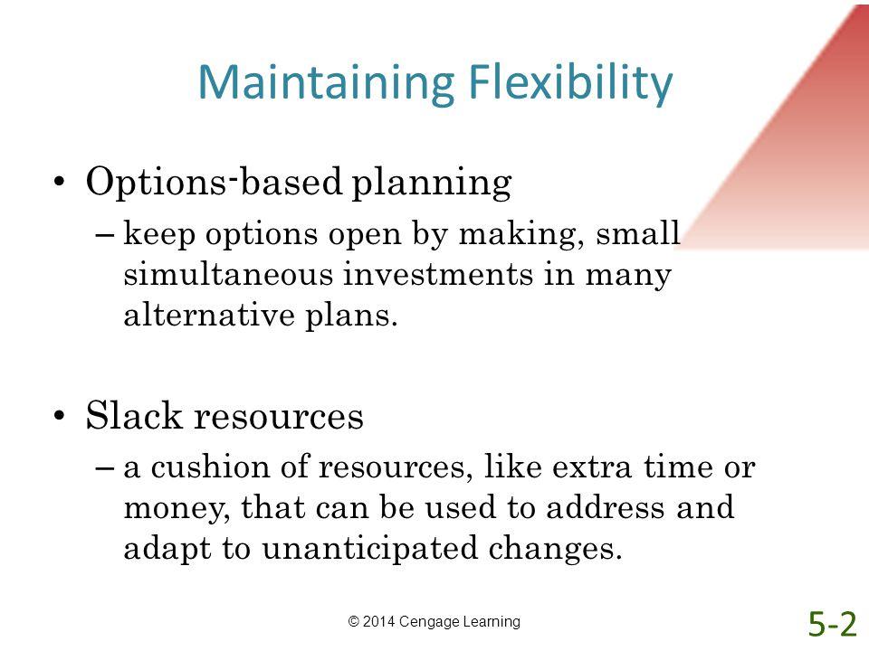 Maintaining Flexibility
