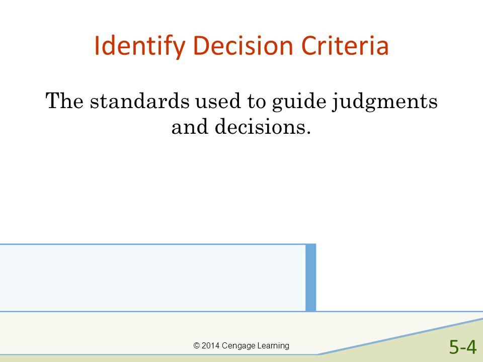 Identify Decision Criteria