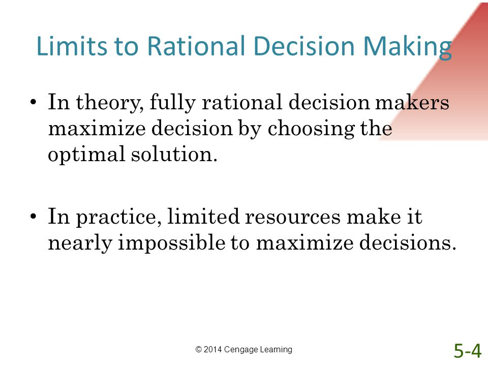 Limits to Rational Decision Making