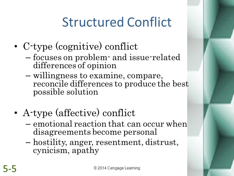 Structured Conflict 5-5 C-type (cognitive) conflict