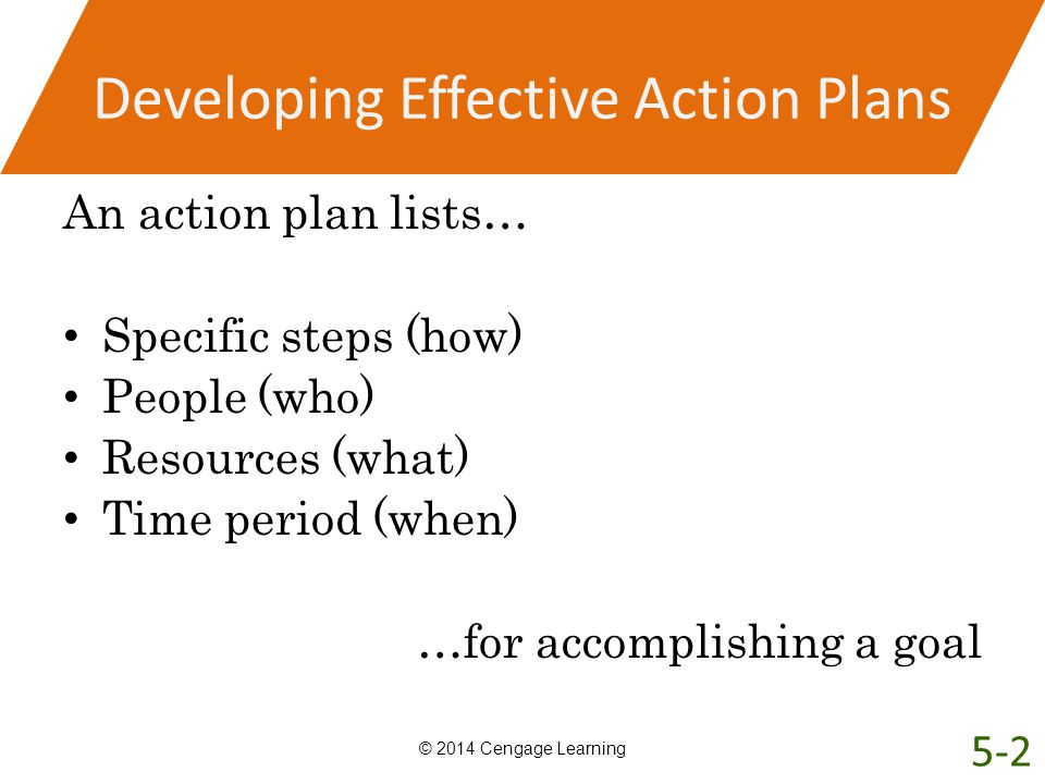 Developing Effective Action Plans