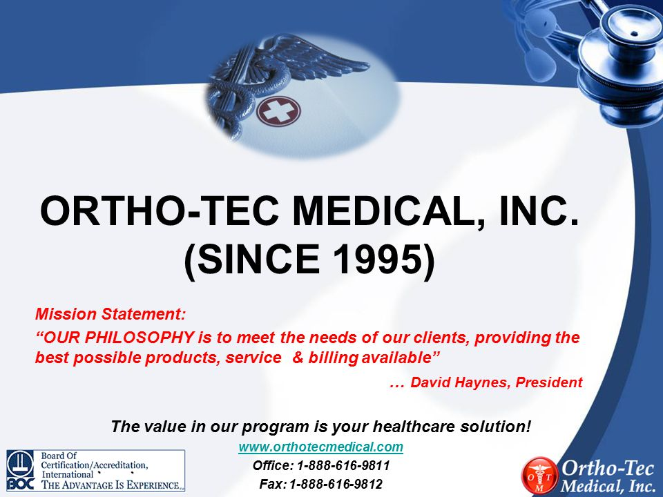 ORTHO-TEC MEDICAL, INC. (SINCE 1995)