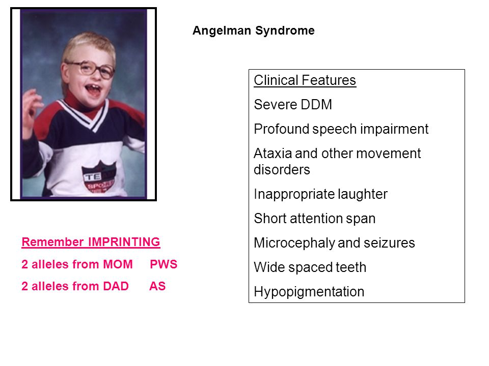 Profound speech impairment Ataxia and other movement disorders