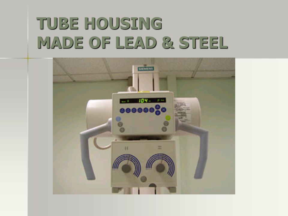 TUBE HOUSING MADE OF LEAD & STEEL