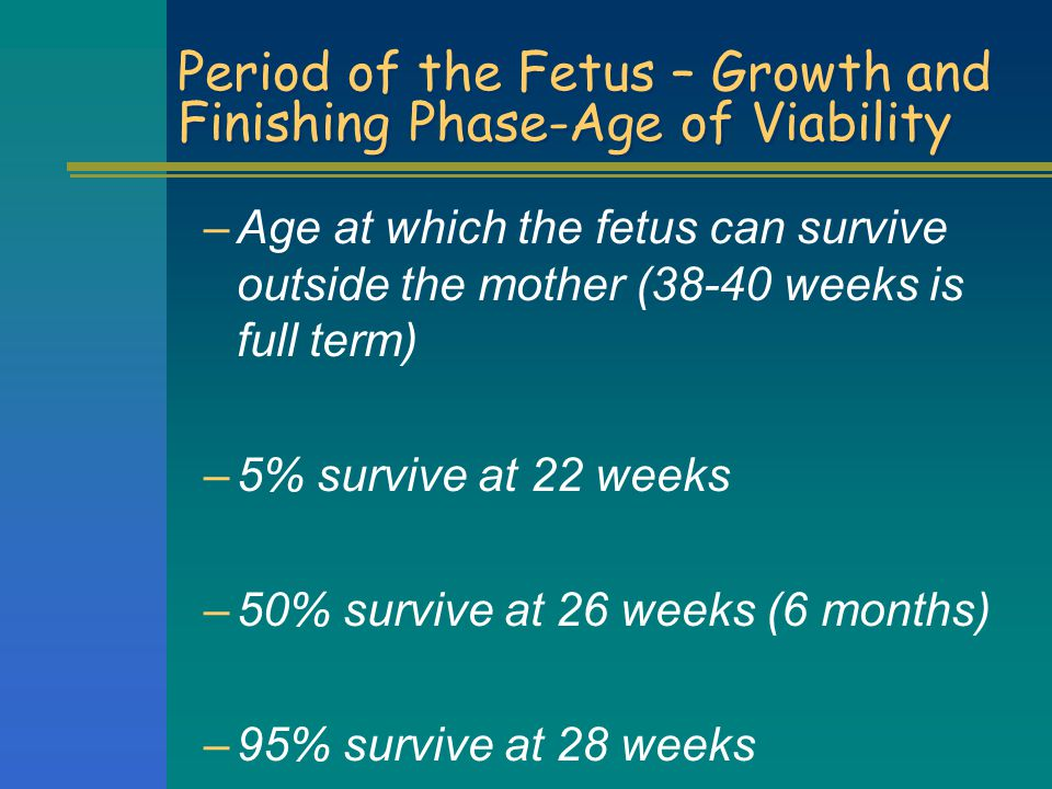 Period of the Fetus – Growth and Finishing Phase-Age of Viability