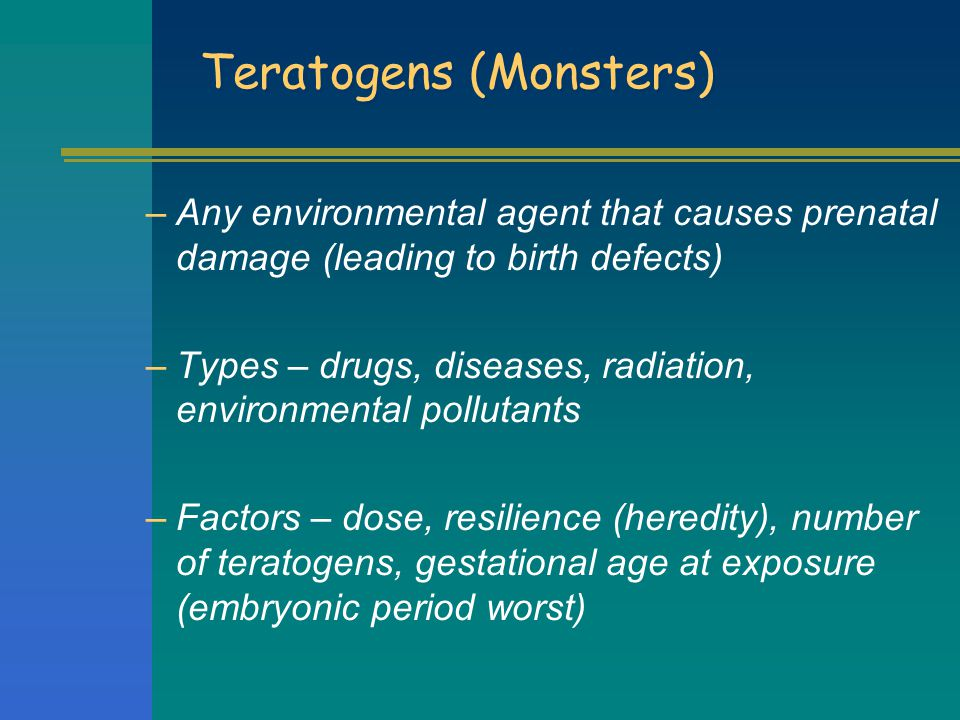 Teratogens (Monsters)