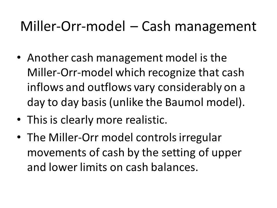 Miller-Orr-model – Cash management