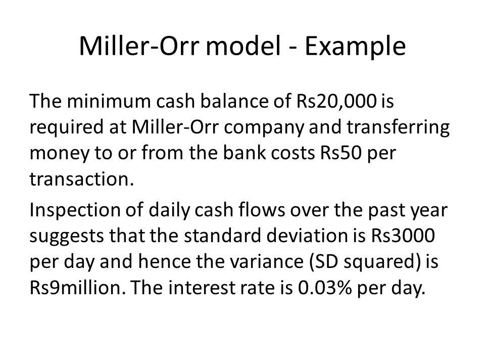 Miller-Orr model - Example