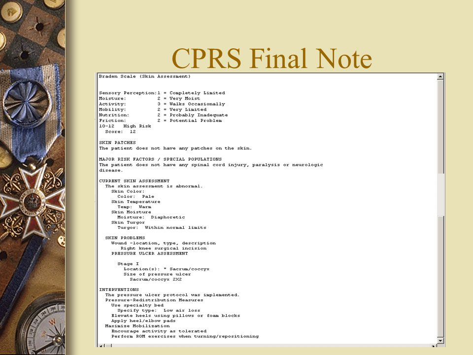 CPRS Final Note