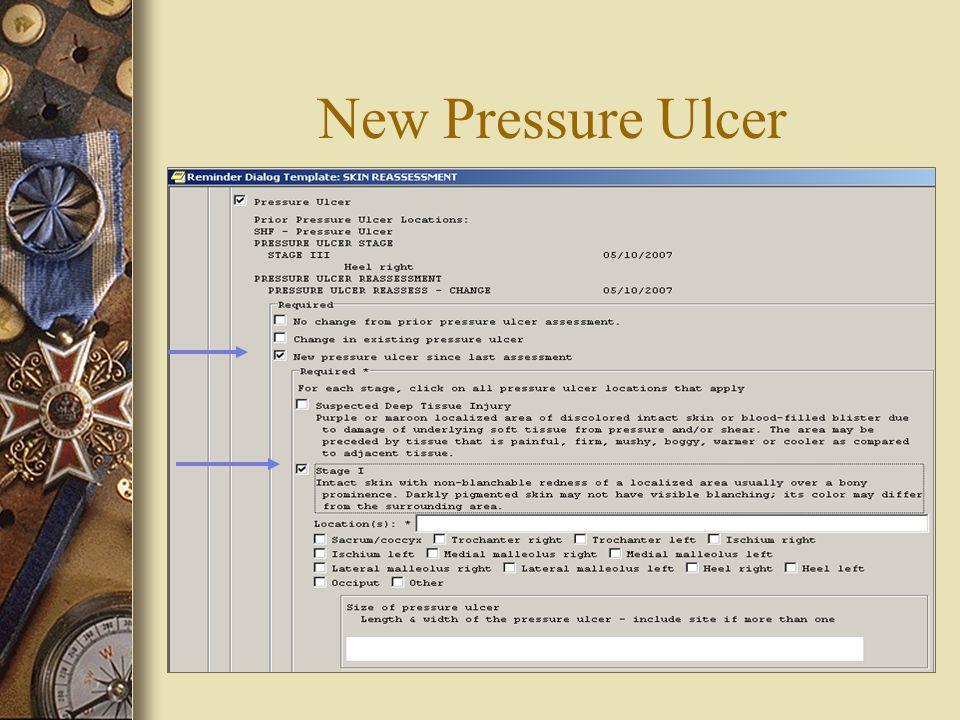 New Pressure Ulcer