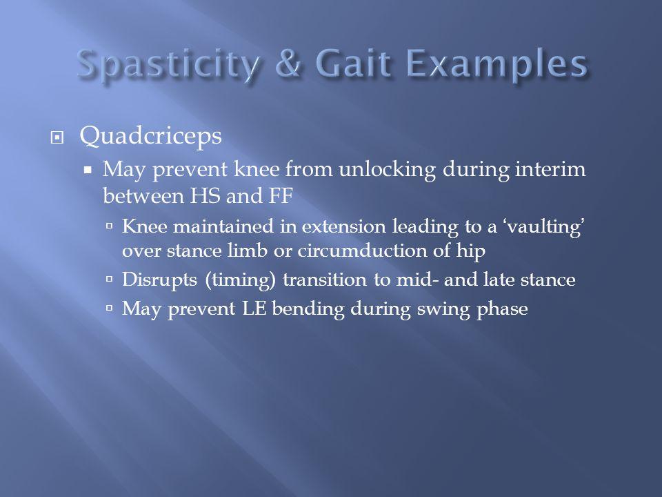 Spasticity & Gait Examples