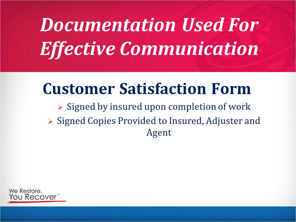 Documentation Used For Effective Communication