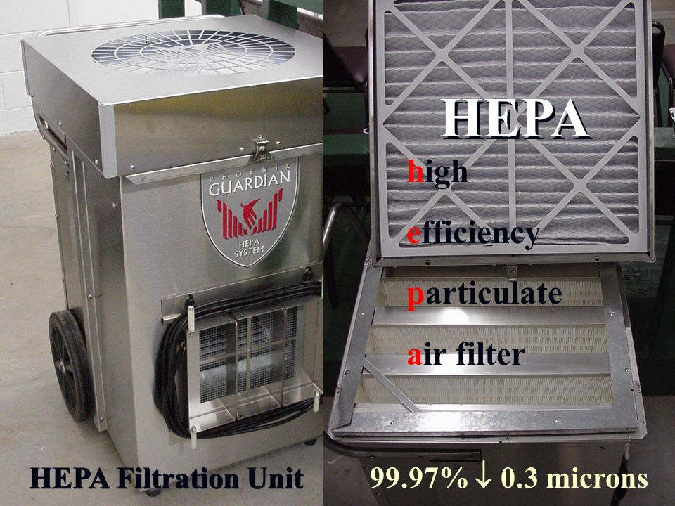 HEPA high efficiency particulate air filter HEPA Filtration Unit