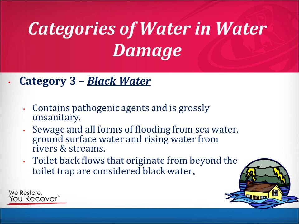 Categories of Water in Water Damage