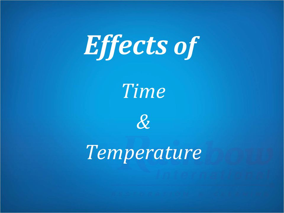 Effects of Time & Temperature