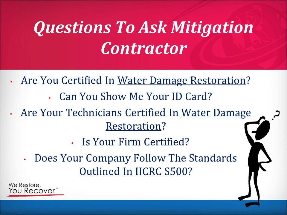 Questions To Ask Mitigation Contractor