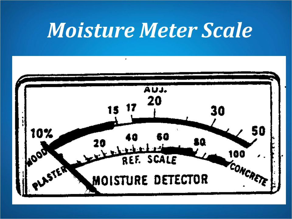Moisture Meter Scale