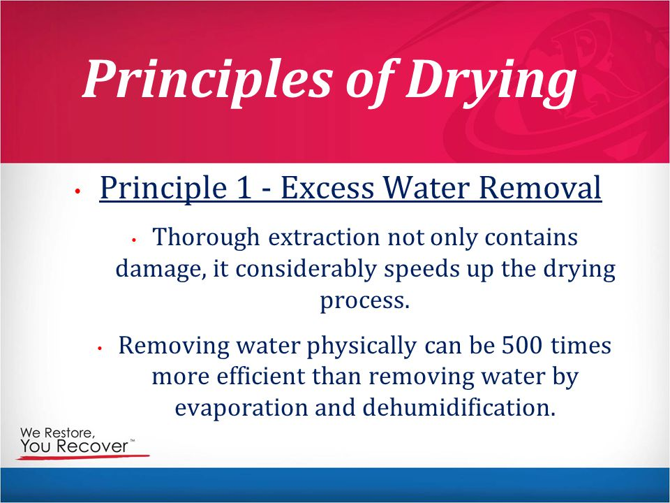 Principle 1 - Excess Water Removal