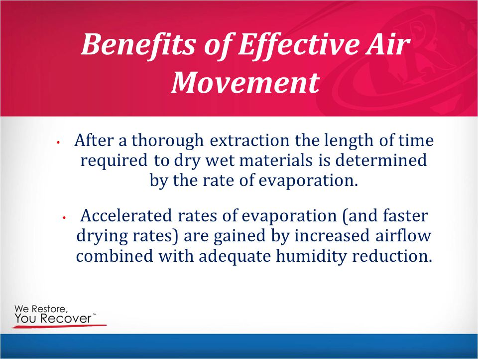 Benefits of Effective Air Movement