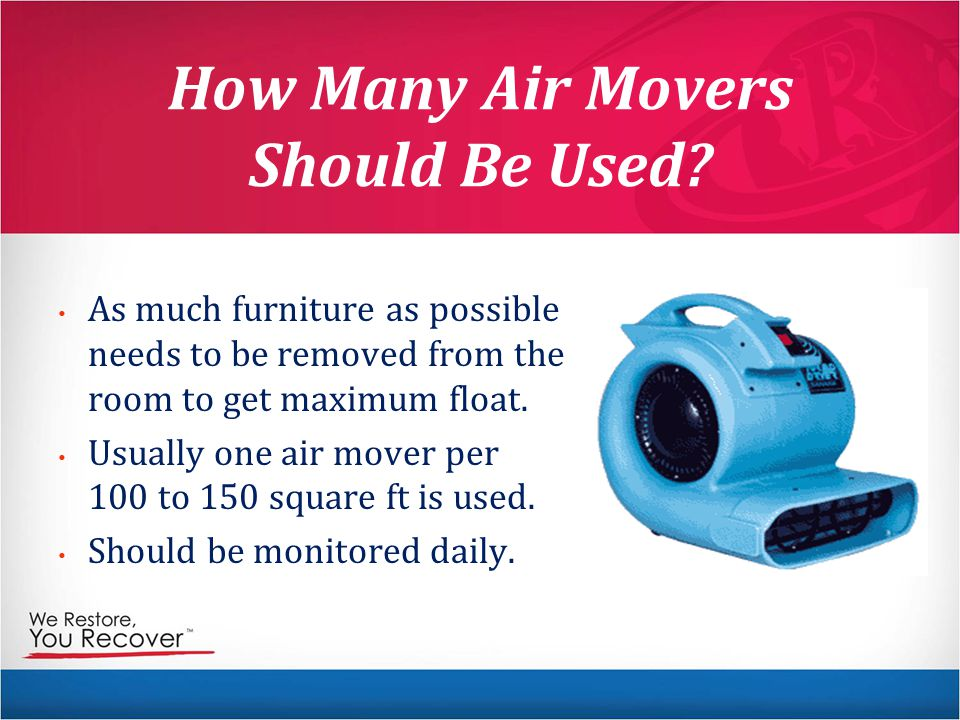 How Many Air Movers Should Be Used