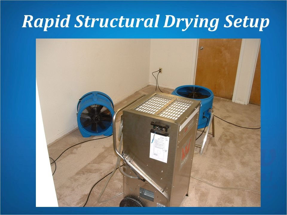 Rapid Structural Drying Setup
