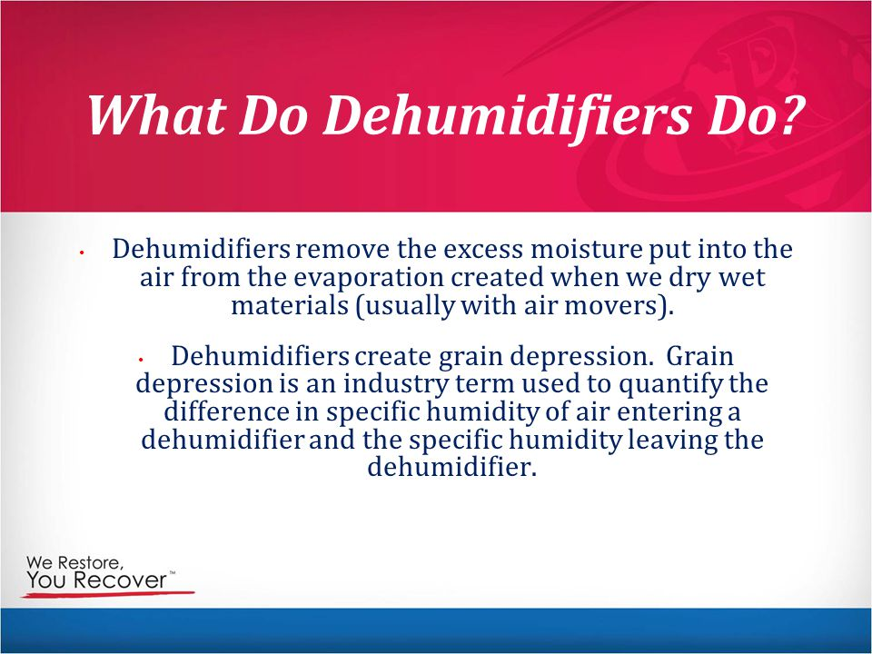 What Do Dehumidifiers Do