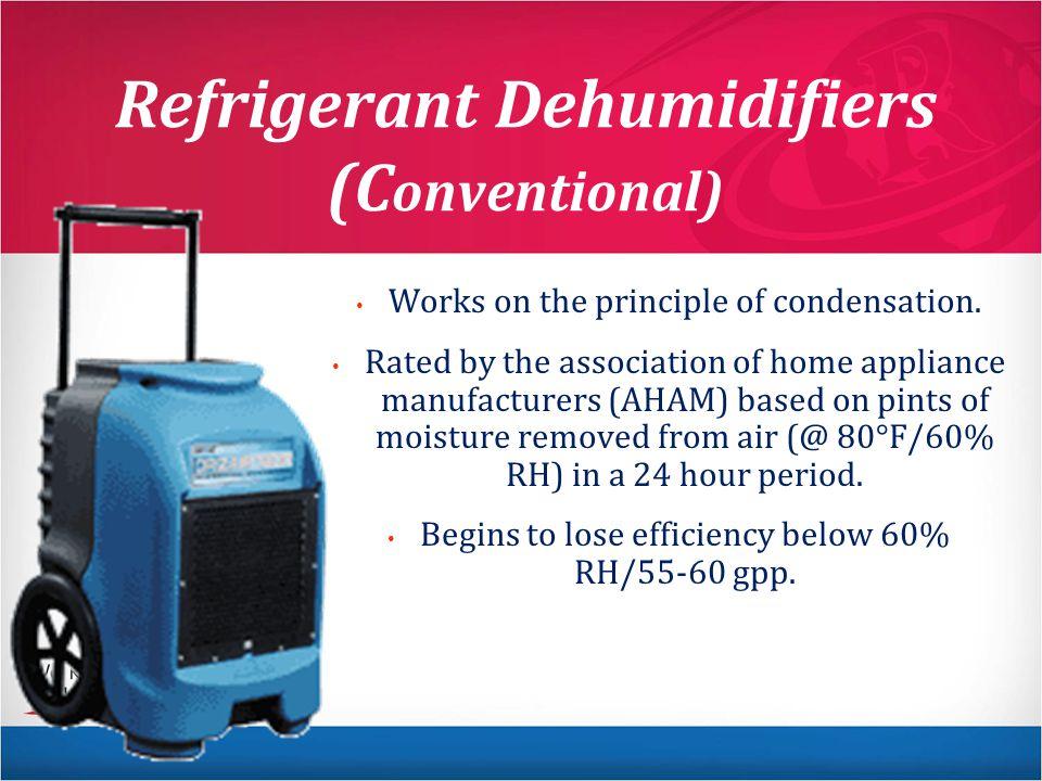 Refrigerant Dehumidifiers (Conventional)