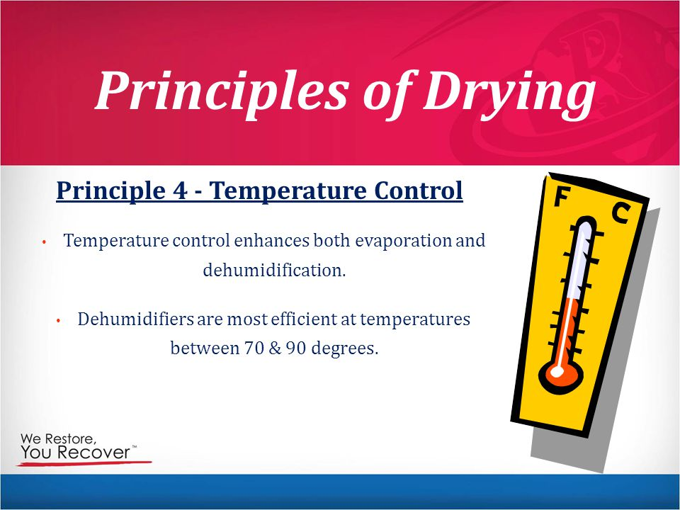 Principle 4 - Temperature Control
