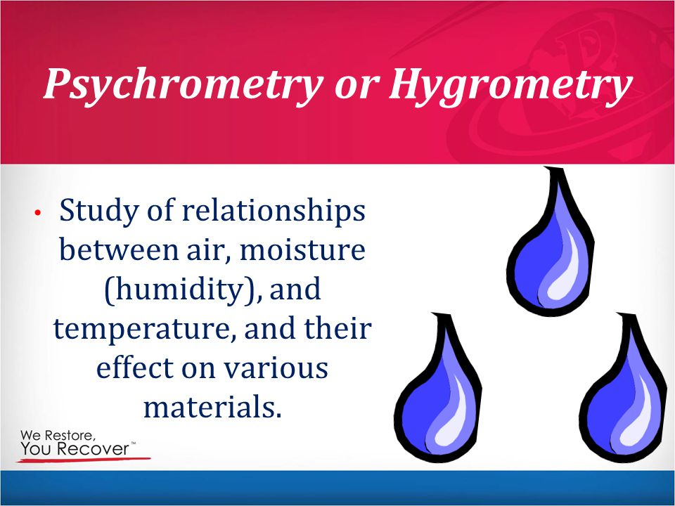 Psychrometry or Hygrometry